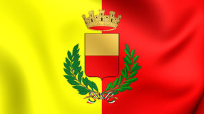 Flag of Naples, Italy. 3D Flag of Naples, Italy. Close Up Royalty Free Stock Image