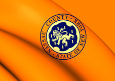 Flag of Nassau County, New York. Royalty Free Stock Images