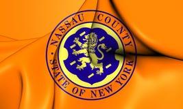 Flag of Nassau County New York, USA. Stock Image