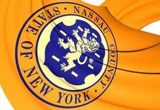 Flag of Nassau County, USA. Stock Photo
