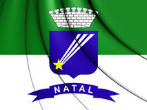 Flag of Natal, Brazil. Royalty Free Stock Images