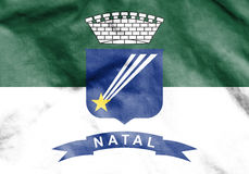 Flag of Natal, Brazil. Stock Photo
