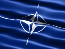 Flag of the NATO Stock Photos
