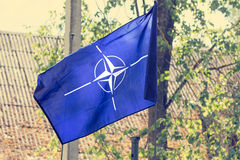 The flag of the  NATO Stock Photography