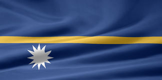 Flag of Nauru royalty free stock photo