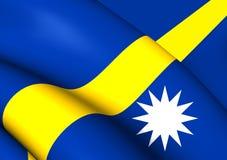 Flag of Nauru Royalty Free Stock Photo