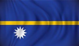 Flag of Nauru Royalty Free Stock Images