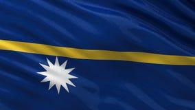 Flag of Nauru - seamless loop stock illustration