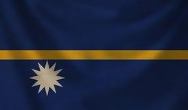 Flag of Nauru. Royalty Free Stock Photo