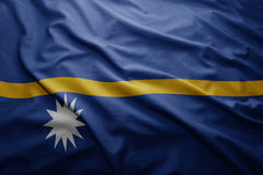 Flag of Nauru Stock Photography