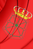 Flag of Navarra, Spain. Stock Image
