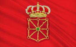 Flag of Navarre is a autonomous community in northern Spain. Flag of Navarre officially the Chartered Community of Navarre is an autonomous community in northern royalty free stock photos