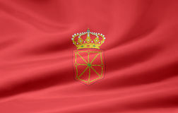 Flag of Navarre - Spain Royalty Free Stock Photos
