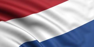 flag Nederländerna Royaltyfri Bild