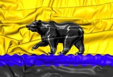 Flag of Nefteyugansk Khanty-Mansi Autonomous Okrug, Russia. 3D Flag of Nefteyugansk Khanty-Mansi Autonomous Okrug, Russia Royalty Free Stock Photo