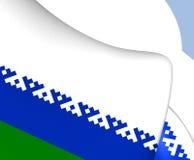 Flag of Nenets Autonomous Okrug, Russia. Close Up Stock Image