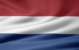 Flag of Netherland. Very large version of a dutch flag Stock Photo