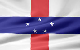 Flag of the Netherland Antilles Stock Photos