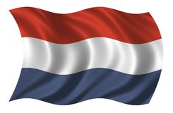 Flag of the Netherlands. Waving in the wind Royalty Free Stock Image