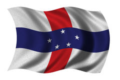 Flag of the Netherlands Antilles Stock Photo