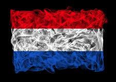 Smoky flag of Netherlands Stock Photos