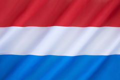 Flag of the Netherlands. (Holland) - Variants of the flag have been in use since 1572, and in 1937 the flag was officially formalized as the national flag of Stock Images