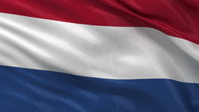 Flag of the Netherlands - seamless loop stock video