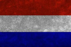 Flag of the Netherlands of thick rough denim. Backgrounds and Textures vector illustration