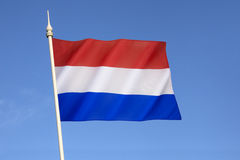 Flag of the Netherlands. Variants of the flag have been in use since 1572, and in 1937 the flag was officially formalized as the national flag of the Kingdom Royalty Free Stock Photo