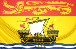 Flag of New Brunswick Province, Canada. Stock Photography