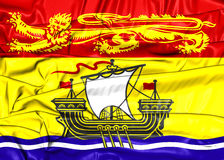 Flag of New Brunswick Province, Canada. Royalty Free Stock Photography