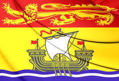 Flag of New Brunswick Province, Canada. Royalty Free Stock Images