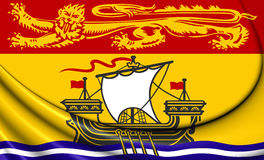Flag of New Brunswick Province, Canada. Stock Images