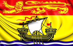Flag of New Brunswick Province, Canada. Royalty Free Stock Photos