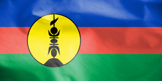 Flag of New Caledonia. Stock Photos