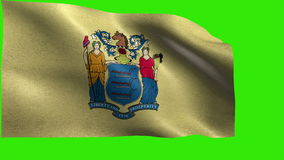 Flag of New Jersey, NJ, Trenton, Newark, December 18 1787, State of The United States of America, USA state - LOOP stock video