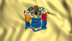 Flag new jersey US state stock illustration