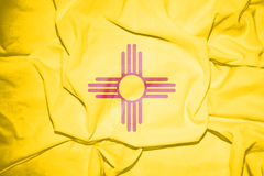 Flag of New Mexico, USA. 3d Rendered Flag of New Mexico, USA Stock Images