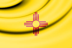 Flag of New Mexico, USA. Stock Photo