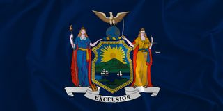 Flag of New York Background, The Empire State. The Excelsior State Stock Images