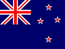 Flag of New Zealand stock illustration