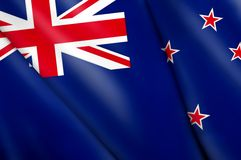 Flag of New Zealand. This is an illustration of folded flag Stock Photos
