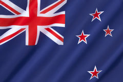 Flag of New Zealand. Adopted 24th March 1902. The stars represent the constellation of Crux, the Southern Cross Royalty Free Stock Photography