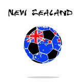 Flag of New Zealand as an abstract soccer ball. Abstract soccer ball painted in the colors of the New Zealand flag. Vector illustration royalty free illustration