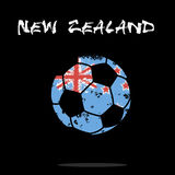 Flag of New Zealand as an abstract soccer ball. Abstract soccer ball painted in the colors of the New Zealand flag. Vector illustration vector illustration