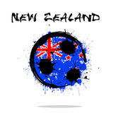 Flag of New Zealand as an abstract soccer ball. Abstract soccer ball painted in the colors of the New Zealand flag. Vector illustration stock illustration