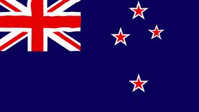Flag of New Zealand gently waving in the wind 2 in 1. Flag of New Zealand gently waving in the wind seamless loop with high quality fabric material stock footage