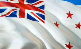 Flag of New Zealand Naval ensign. 3D Waving flag design. The national symbol of New Zealand Naval ensign, 3D rendering. National. Colors of New Zealand Naval royalty free stock photos