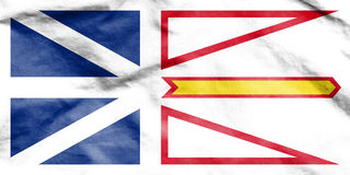 Flag of Newfoundland and Labrador, Canada. Royalty Free Stock Photo