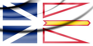 Flag of Newfoundland and Labrador, Canada. Stock Image